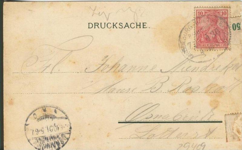 Leipzig v. 1901  Kutschen,Strassenbahn,Roessler Hotel  ()  --  siehe Foto !!  (29409) 1