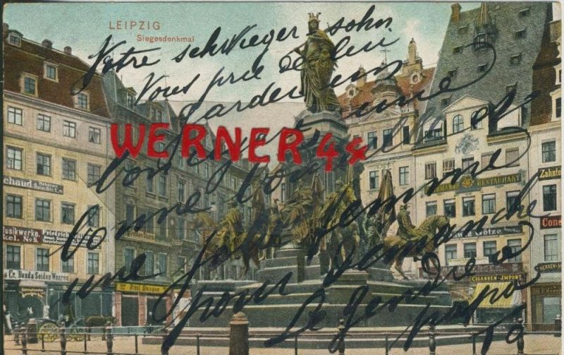 Leipzig v. 1903 Geschäft S. Müller,Seidengeschäft,Restaurant,Tabak Geschäft,Götze-Mode  ()  --  siehe Foto !!  (29411) 0