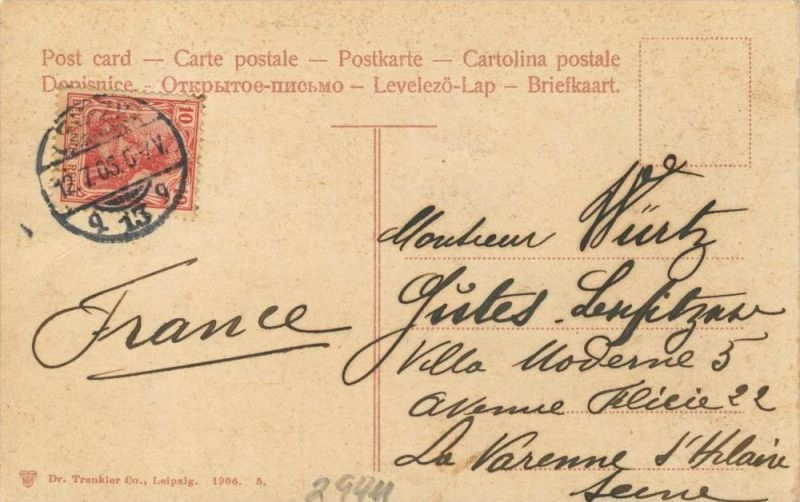 Leipzig v. 1903 Geschäft S. Müller,Seidengeschäft,Restaurant,Tabak Geschäft,Götze-Mode  ()  --  siehe Foto !!  (29411) 1