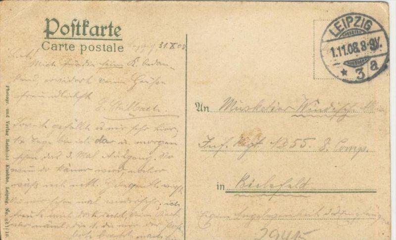 Leipzig v. 1908 Der Augustusplatz mit Brunnen   ()  --  siehe Foto !!  (29415) 1