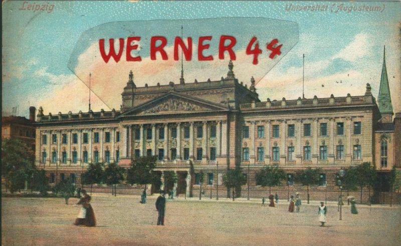 Leipzig v. 1906  Universität (Augusteum)   ()  --  siehe Foto !!  (29416) 0