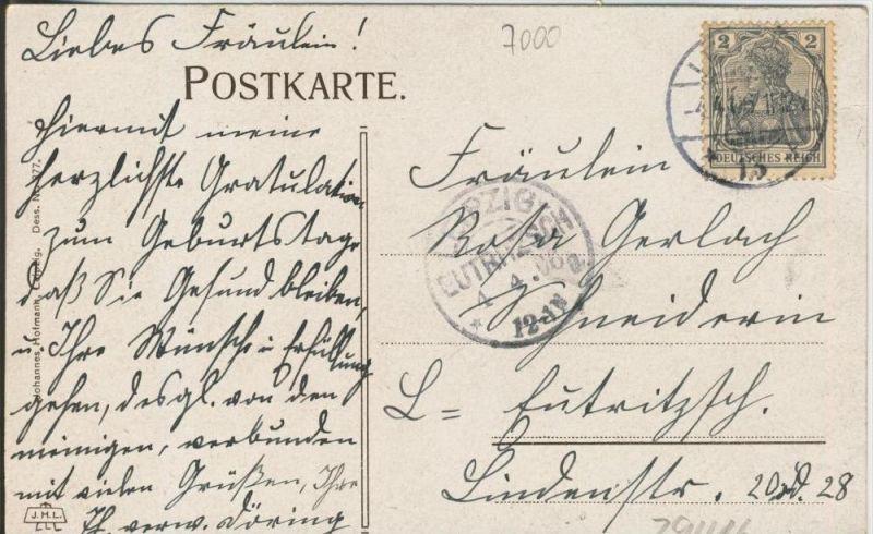 Leipzig v. 1906  Universität (Augusteum)   ()  --  siehe Foto !!  (29416) 1