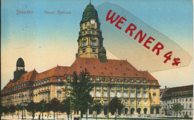 Dresden v. 1916  Neues Rathaus  ()  --  siehe Foto !!  (29418) 0
