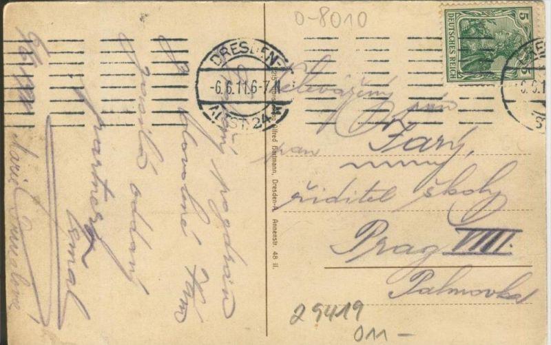 Dresden v. 1911  Neues Rathaus mit Ringstrasse  ()  --  siehe Foto !!  (29419) 1
