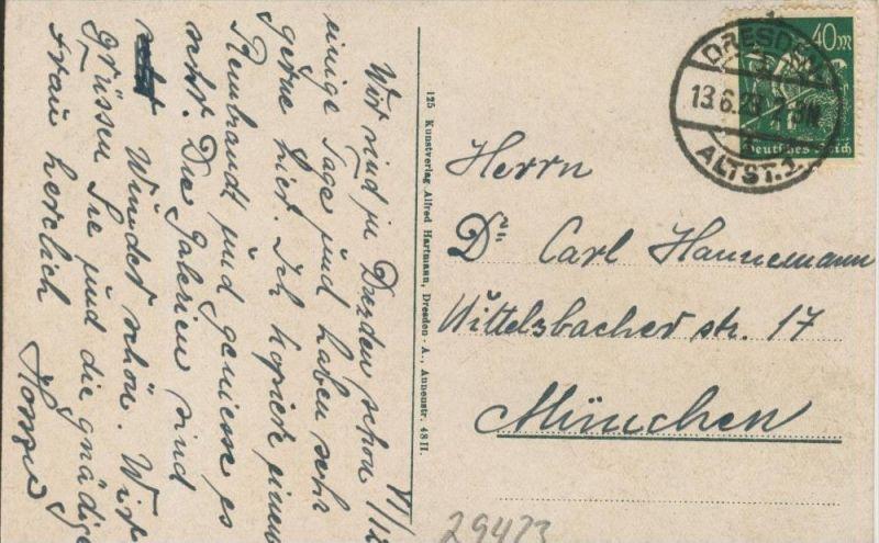 Dresden v. 1923  ()  --  siehe Foto !!  (29423) 1