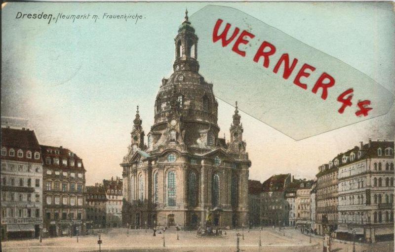 Dresden v. 1908  Neumarkt mit der Frauenkirche  ()  --  siehe Foto !!  (29424) 0