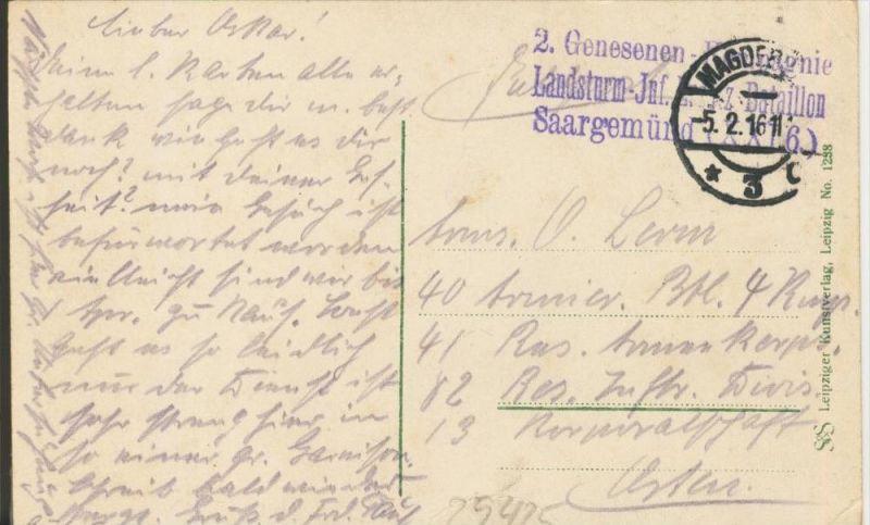 Magdeburg v. 1916  4 Ansichten   (1.W.-Feldpost-Stempel)  --  siehe Foto !!  (29425) 1