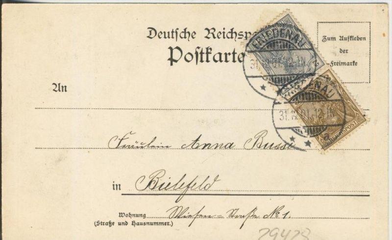 Gruss aus Berlin v. 1901  Goldfischteich im Thiergarten  ()  --  siehe Foto !!  (29428) 1
