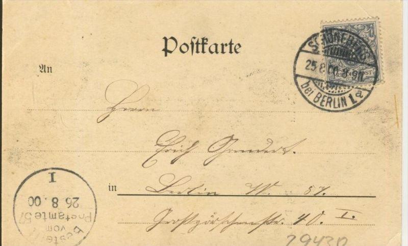 Gruss aus Berlin v. 1900  Der Dom mit Strasse  ()  --  siehe Foto !!  (29430) 1