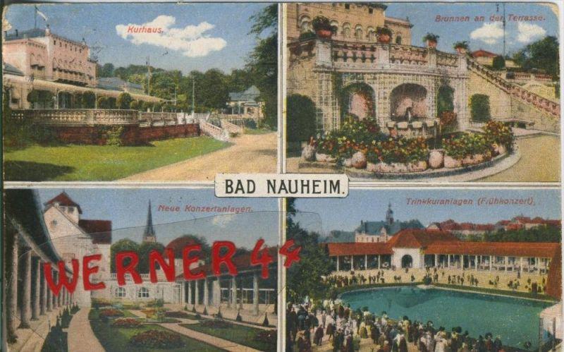 Bad Nauheim v. 1928  4 Ansichten   ()  --  siehe Foto !!  (29437) 0