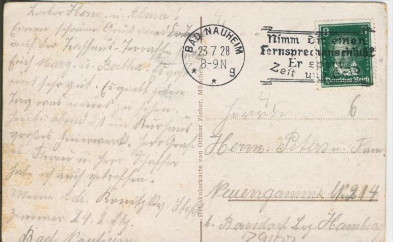 Bad Nauheim v. 1928  4 Ansichten   ()  --  siehe Foto !!  (29437) 1