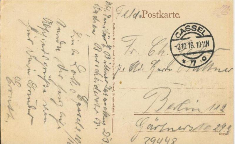 Cassel v. 1916  Orangerie  ()  --  siehe Foto !!  (29448) 1