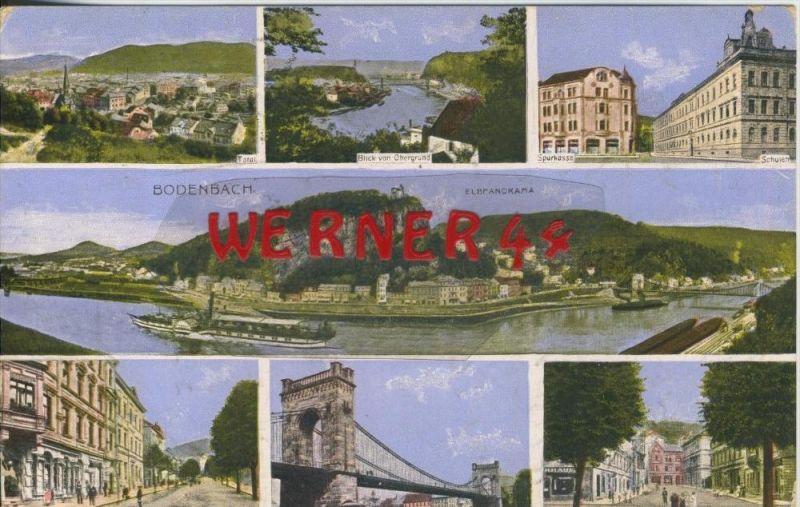 Bodenbach v. 1915  7 Stadt-Ansichten  ()  --  siehe Foto !!  (29449) 0