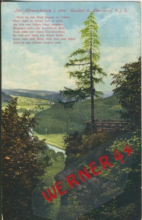Ebersdorf v.1917  Der Heinrichstein   ()  --  siehe Foto !!  (29453) 0