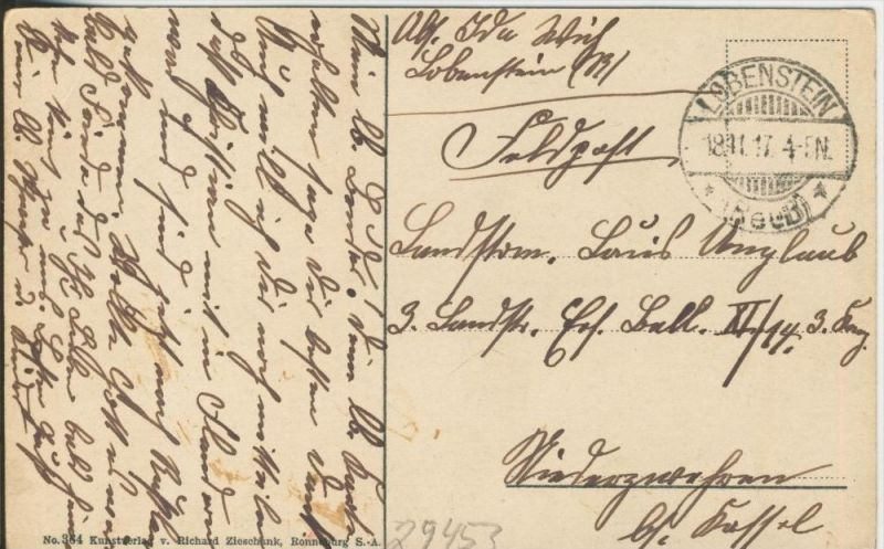 Ebersdorf v.1917  Der Heinrichstein   ()  --  siehe Foto !!  (29453) 1