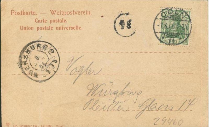 Köln v. 1905  Der Dom   ()  --  siehe Foto !!  (29460) 1