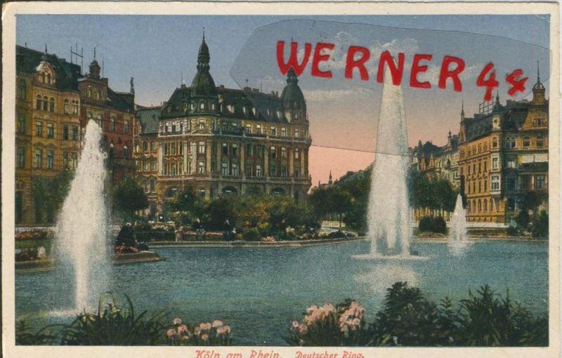 Köln v. 1931  Deutscher Ring  ()  --  siehe Foto !!  (29470) 0