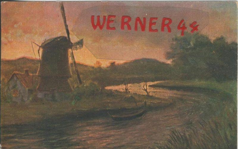 Fluß mit einer Windmühle v. 1925  ()  --  siehe Foto !!  (29485) 0