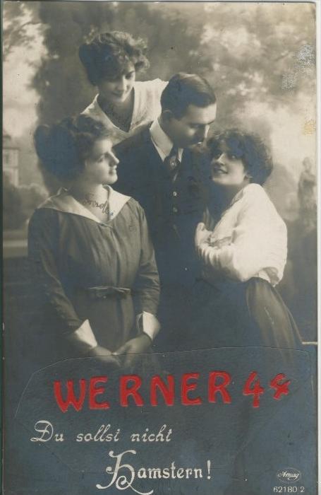 Du sollst nicht Hamstern ! v. 1917   ()  --  siehe Foto !!  (29487) 0