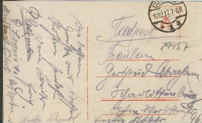 Du sollst nicht Hamstern ! v. 1917   ()  --  siehe Foto !!  (29487) 1