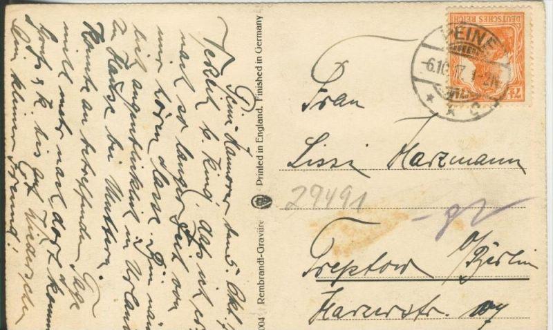 Schiff in stürmische See v. 1917    ()  --  siehe Foto !!  (29491) 1