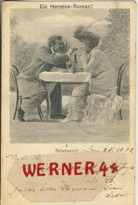 Schelmerei v. 1902   ()  --  siehe Foto !!  (29494) 0