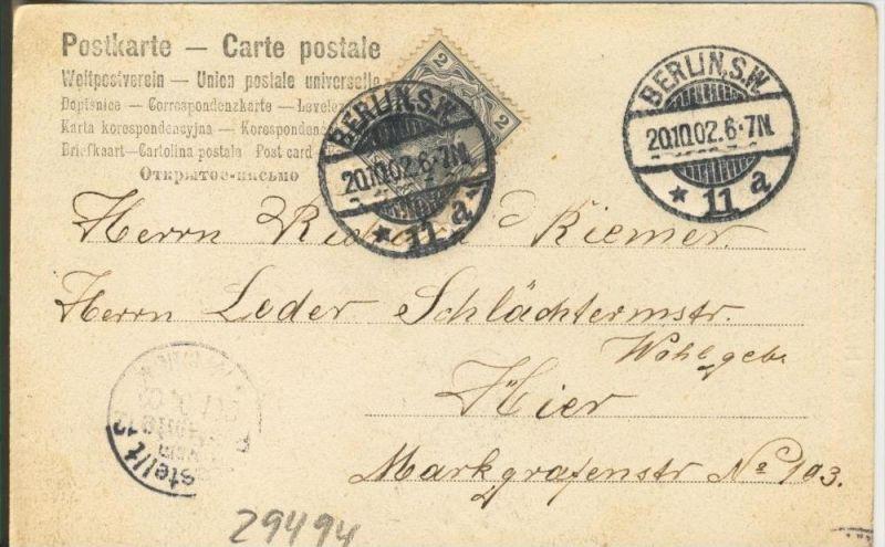 Schelmerei v. 1902   ()  --  siehe Foto !!  (29494) 1