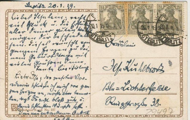 Beim Apfel stehlen v. 1919   ()  --  siehe Foto !!  (29497) 1