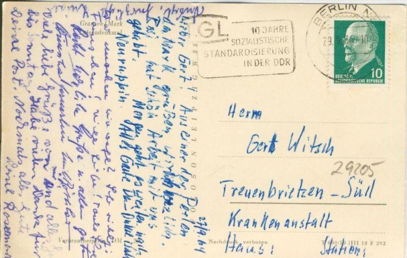 Gransee v. 1959  Luisen-Denkmal   --  siehe Foto !!  (29205) 1