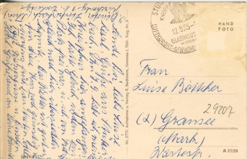 Meyersgrund v. 1955  Die Mühle im Ilmtal  --  siehe Foto !!  (29207) 1