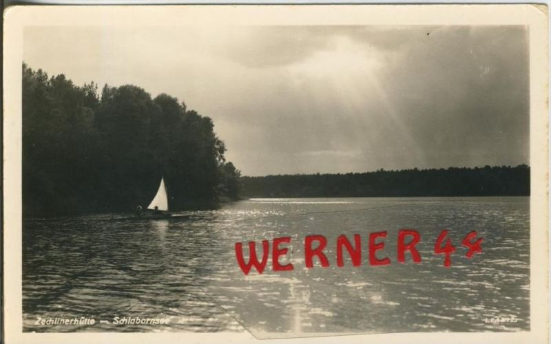 Zechlinerhütte v. 1957  Schlahornsee  --  siehe Foto !!  (29208) 0