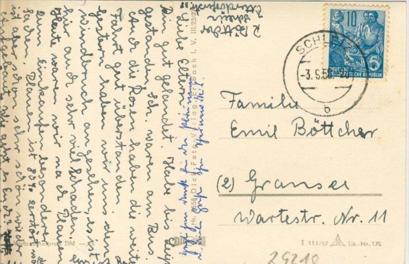 Plauen v. 1958  5 Ansichten und Plauner Spitze --  siehe Foto !!  (29210) 1