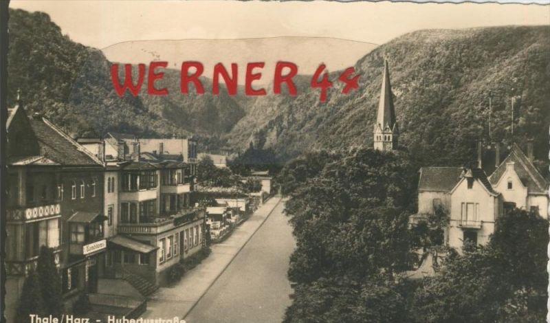 Thale v. 1960  Die Hubertusstrasse  --  siehe Foto !!  (29213) 0