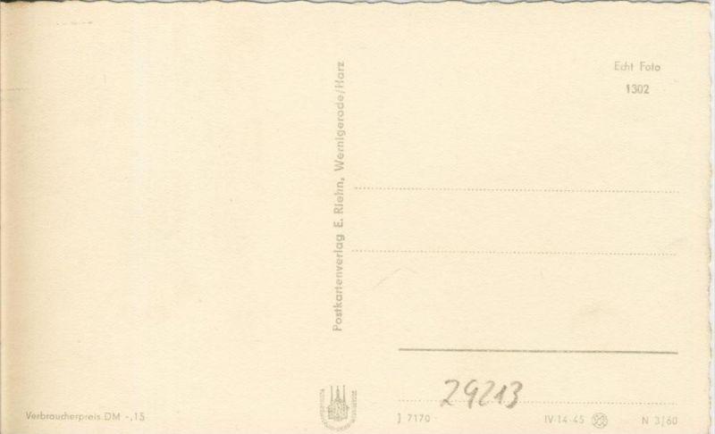 Thale v. 1960  Die Hubertusstrasse  --  siehe Foto !!  (29213) 1