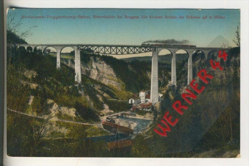 Bruggen v. 1911 Bodensee-Toggenburg-Bahn --  siehe Foto !!  (30843)