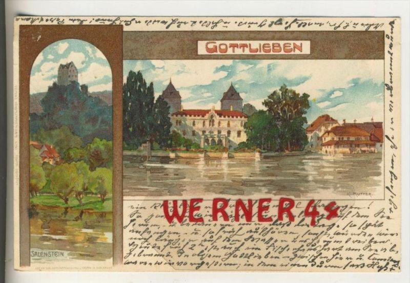 Gottlieben v. 1903  Teil-Stadt & Salenstein  (30892)