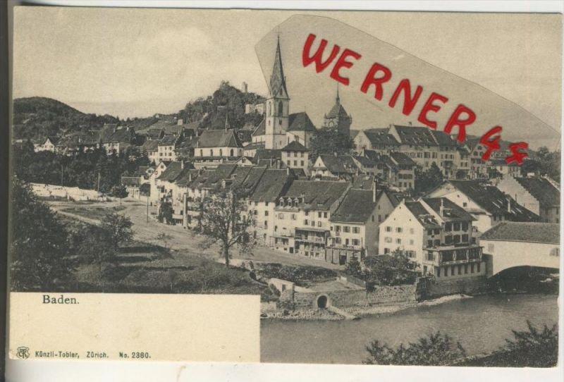Baden v. 1912  Teil-Stadt-Ansicht   (31598)