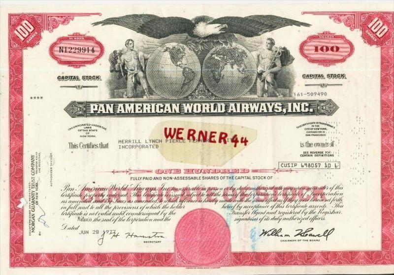 Pan American World Airways,Inc. von 1977 (40529)