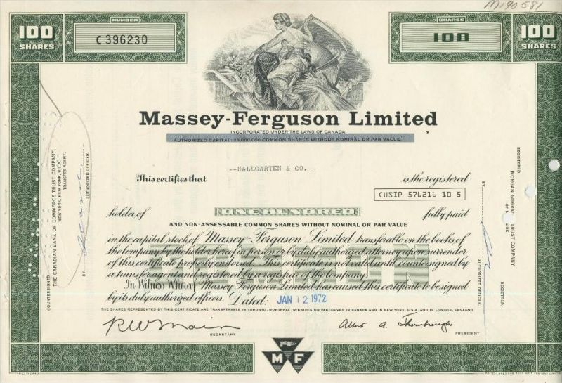 Massey - Ferguson Limited (44039)