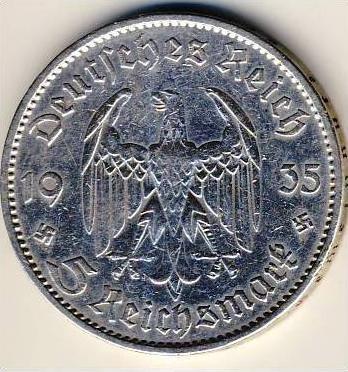 Garnisionskirche Münze 5 Reichsmark 1934 A Silber 54010 Nr