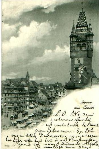 Gruss aus Basel v. 1902 Teil-Stadt-Ansicht (23033)