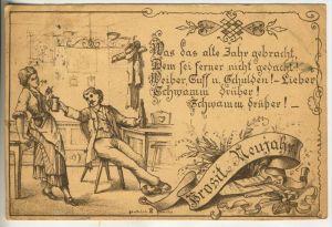 Prosit Neujahr v. 1884 !!  Was das alte Jahr gebracht  (45490) 0