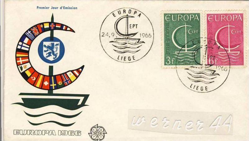 Ersttagsbrief v. 1966 - Europa Cept  (26248)