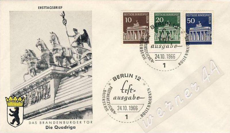 Ersttagsbrief v. 1966 - Das Brandenburger Tor   (26249)