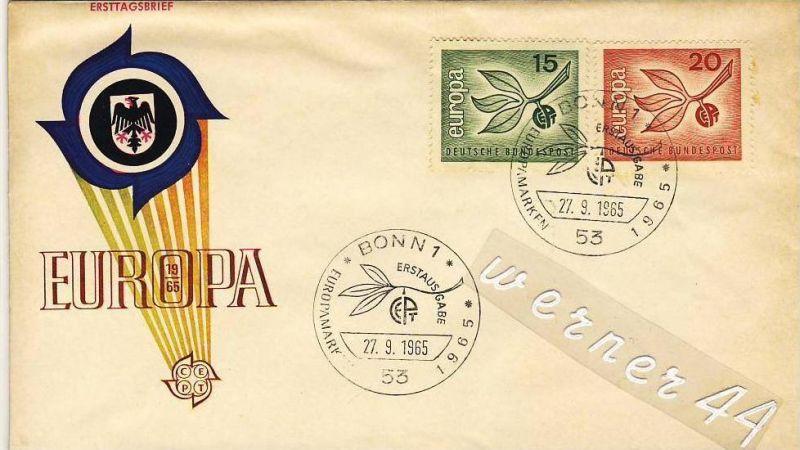 Berlin v. 1965  Ersttagsbrief - Europa 15 6 20 Pfg.  (26255)