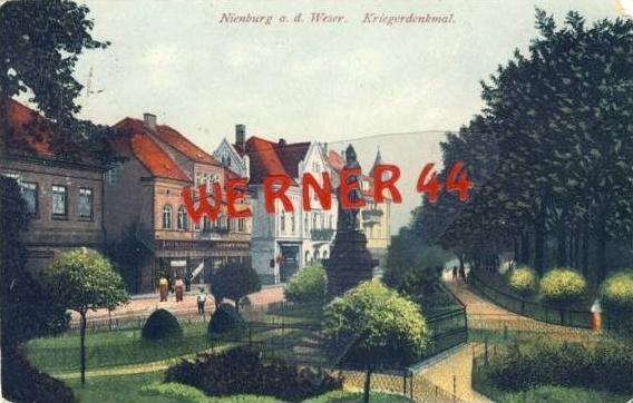 Nienburg v. 1921 Teil-Stadt-Ansicht mit... (23548-24)