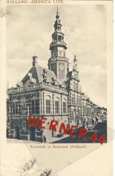 (Holland) v. 1911 Townhall at Bolsward  (33422)