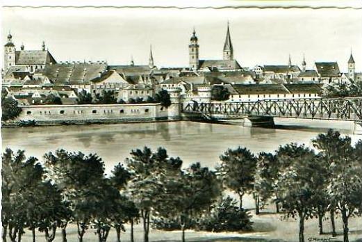 Ingolstadt v.1959 Teil-Stadt-Ansicht (20794)