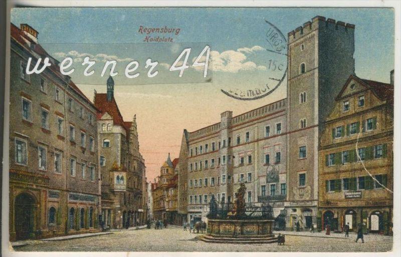 regensburg v 1931 haidplatz mit hotel s gesch fte 6930. Black Bedroom Furniture Sets. Home Design Ideas