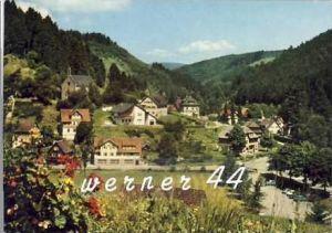 Schönmünzach v. 1965 Teil-Dorf-Ansicht (27059)